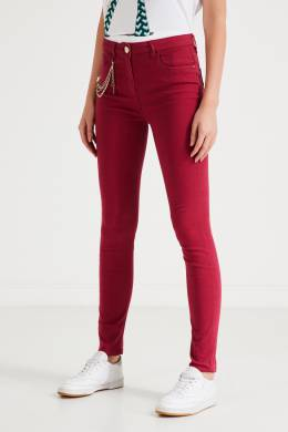 Яркие джинсы с цепочкой Elisabetta Franchi 1732174896