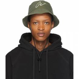 Greg Lauren Green Army Bucket Hat SS20A006