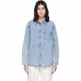 Alexander Wang Blue Denim Oversized Shirt 4DC1202592
