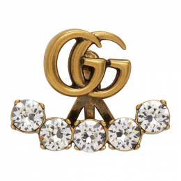 Gucci Gold Crystal Double G Single Earring 605853 J1D50