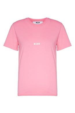Розовая футболка с микропринтом MSGM 296181727
