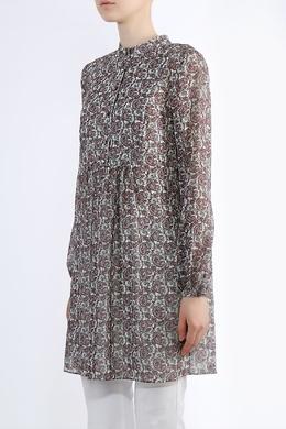 Платье-блуза с принтом пейсли Saint Laurent 1531182621