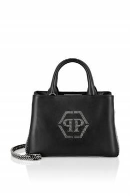 Небольшая черная сумка из кожи Philipp Plein 1795182893