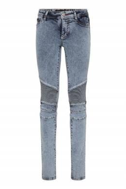 Облегающие голубые джинсы Philipp Plein 1795182933
