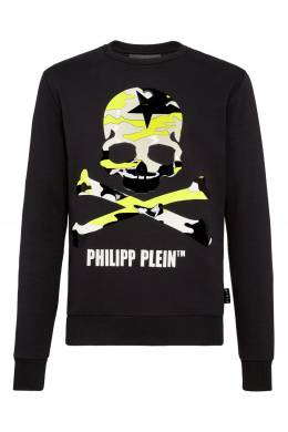 Черный свитшот с ярким принтом-черепом Philipp Plein 1795182983