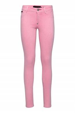Розовые джинсы-скинни со стразами Philipp Plein 1795182996