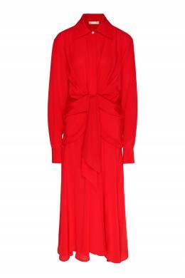 Алое платье из шелкового крепдешина Victoria Beckham 212183104