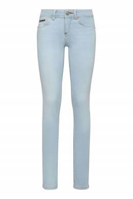 Светло-голубые джинсы-скинни Philipp Plein 1795182958