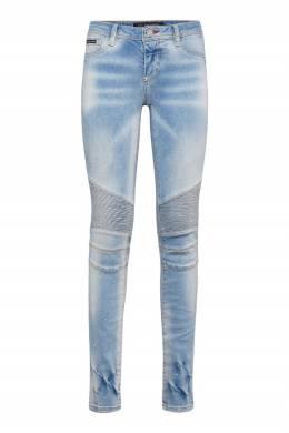 Голубые джинсы в байкерском стиле Philipp Plein 1795182926