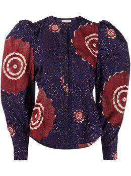 Ulla Johnson блузка с пышными рукавами и принтом PS200205