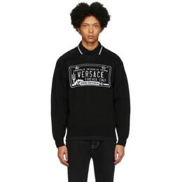 Versace Black License Plate Sweatshirt A85886 A233610