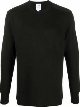 Y-3 logo intarsia relaxed-fit jumper FM1155