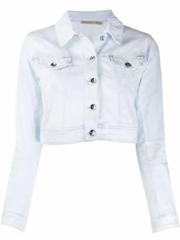 Patrizia Pepe cropped denim jacket 8J0923A6E6