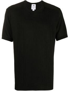 Y-3 logo intarsia short-sleeved jumper FN3382