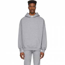Essentials Grey Reflective Pullover Hoodie 192HO192006F