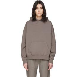 Essentials Grey Fleece Pullover Hoodie 192HO192001