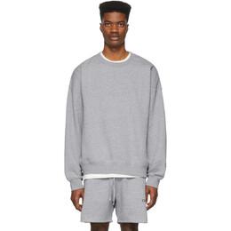 Essentials Grey Reflective Pullover Sweatshirt 192HO192016F