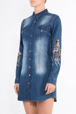 Синее джинсовое платье Philipp Plein 1795182560