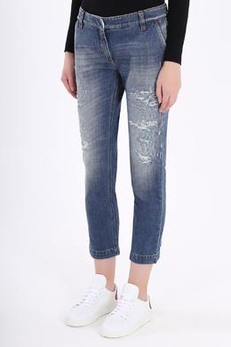 Укороченные синие джинсы Dolce&Gabbana 599182509