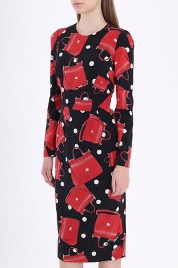 Платье-футляр с принтом Dolce&Gabbana 599182378