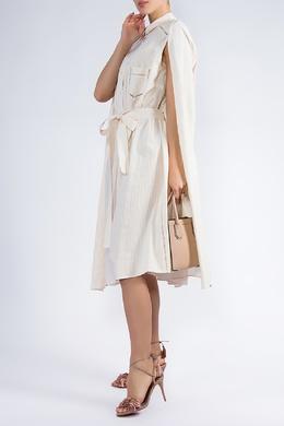 Бежевое платье с накидкой Veronique Branquinho 838182511