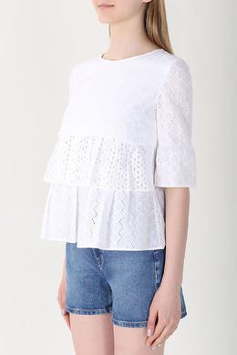 Блуза с вышивкой ришелье Hugo Boss 622183367