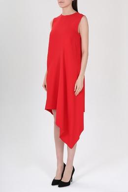Красное ассиметричное платье Victoria Beckham 212183303