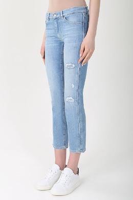 Укороченные джинсы голубого цвета Hugo Boss 622183370