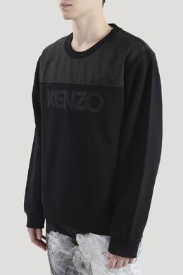 Комбинированная толстовка с логотипом Kenzo 1567183260