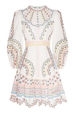 Платье мини с разноцветной вышивкой Peggy Zimmermann 1411183118