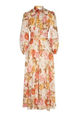 Льняное платье макси с цветочным принтом Bonita Zimmermann 1411183119