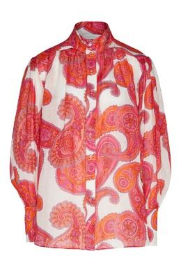 Блуза с принтом пейсли Peggy Zimmermann 1411183117