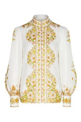 Блуза с цветочным принтом Super Eight Zimmermann 1411183133