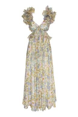 Платье с рюшами и цветочным принтом Super Eight Zimmermann 1411183134