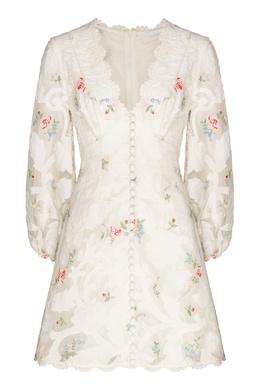 Платье мини с цветочным принтом и аппликациями Zinnia Zimmermann 1411183126