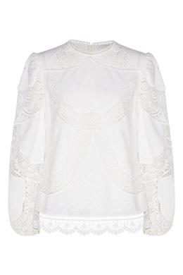Белая кружевная блуза Bonita Zimmermann 1411183128