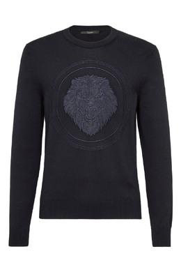 Черный джемпер с изображением льва Billionaire 1668183384