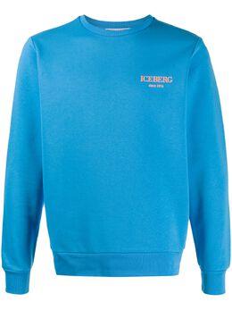 Iceberg logo print relaxed-fit sweatshirt E01063026267