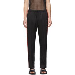 Dries Van Noten Black and Red Perkino Trousers 20927-9158-900