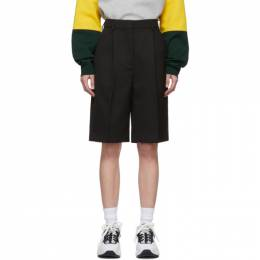 Acne Studios Black Summer Wool Ruthie Shorts AE0018