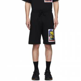 Dries Van Noten SSENSE Exclusive Black Mika Ninagawa Edition Habda Shorts 21101-9613-900