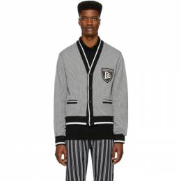 Dolce&Gabbana Black and White Houndstooth Cardigan G9QO3Z G7VNT