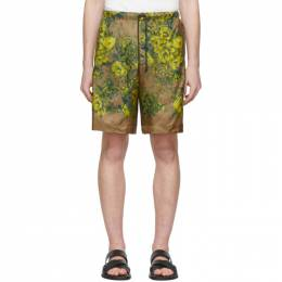 Dries Van Noten Beige and Yellow Floral Piper Shorts 20950-9078-102