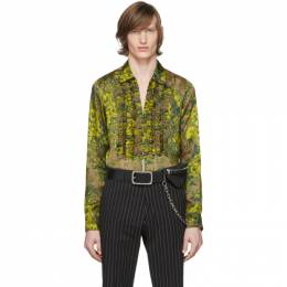 Dries Van Noten Green and Yellow Cardinale Floral Shirt 20706-9100-102