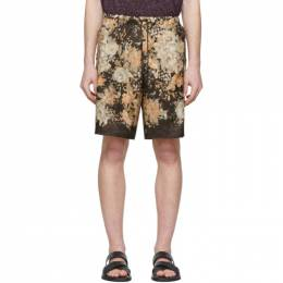 Dries Van Noten Brown and Multicolor Piper Shorts 20950-9078-703