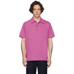 Dries Van Noten Pink Hadler Polo 21111-9600-304