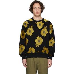 Dries Van Noten Black and Yellow Hefel Embroidered Sweatshirt 21143-9615-900