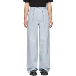 Dries Van Noten Blue Publish Trousers 22418-9395-514