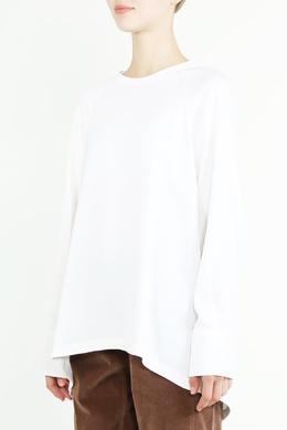 Белый топ с длинными рукавами Brunello Cucinelli 1675183639