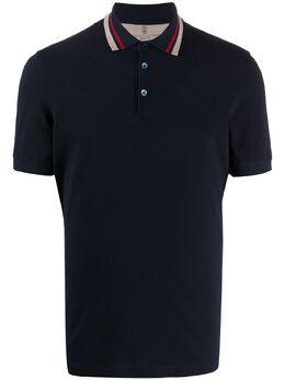 Brunello Cucinelli рубашка-поло с отделкой в полоску M0T638327CB495